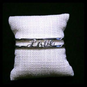 Silver plated cuff bracelet
